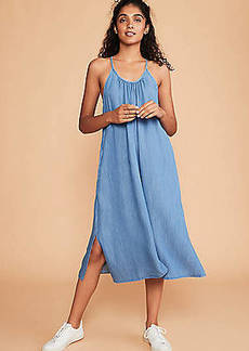 LOFT Lou & Grey Chambray Pocket Dress