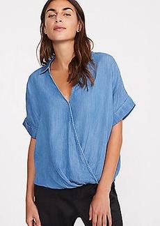 LOFT Lou & Grey Chambray Wrap Shirt