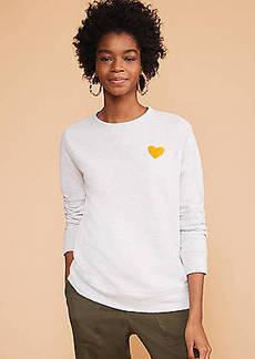 LOFT Lou & Grey Conscious Cotton Heart Patch Sweatshirt