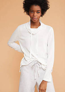 LOFT Lou & Grey Cozy Textured Drawstring Top