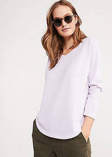 LOFT Lou & Grey Cozy Textured Shirttail Top