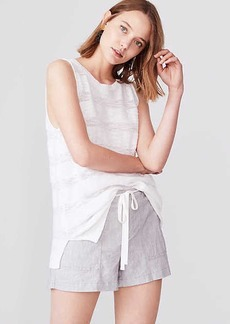 LOFT Lou & Grey Crosshatch Softstretch Linen Shorts