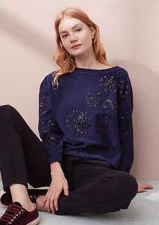Lou & Grey Floral Sequin Sweatshirt