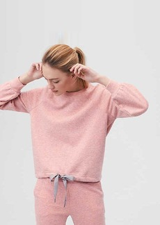 Lou & Grey FORM Heathered Drawstring Sweatshirt - Anytime