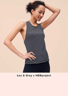 Lou & Grey FORM Striped Twistback Tank - Anytime