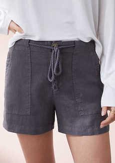 LOFT Lou & Grey Garment Dye Roped Linen Shorts