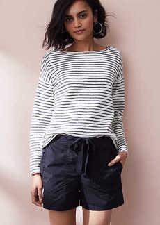 LOFT Lou & Grey Garment Dye Poplin Drawstring Shorts