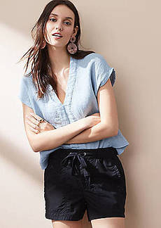 LOFT Lou & Grey Garment Dye Poplin Shorts