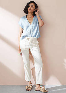 LOFT Lou & Grey Garment Dye Softstretch Linen Pants