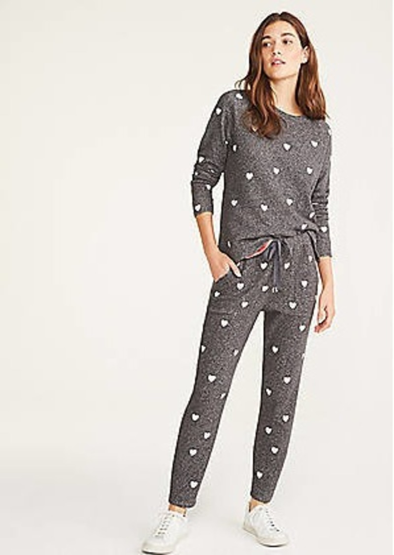 LOFT Lou & Grey Heart Terry Sweatpants