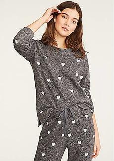 LOFT Lou & Grey Heart Terry Sweatshirt