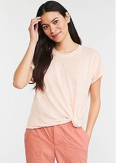 Lou & Grey Knotted Softserve Linen Tee