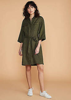 LOFT Linen Safari Dress