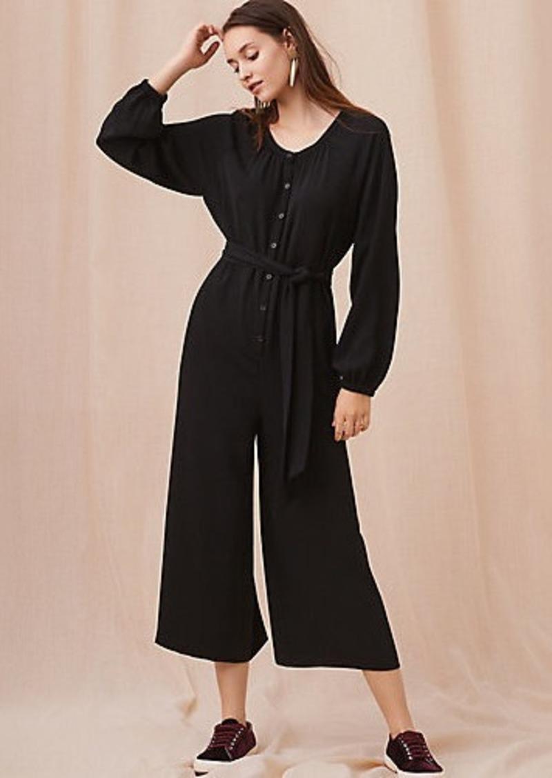 0ab54c532d1 SALE! LOFT Lou   Grey Long Sleeve Jumpsuit
