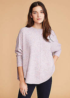 LOFT Lou & Grey Marled Poncho Sweater