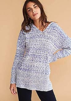 LOFT Lou & Grey Marlknit Hoodie Sweater