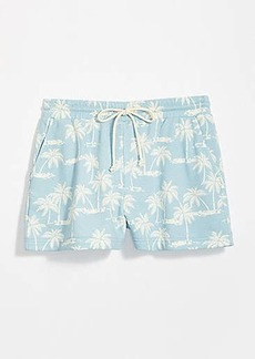 LOFT Lou & Grey Palm Tree Terry Drawstring Shorts