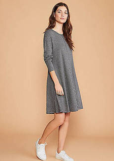 LOFT Lou & Grey Plaid Ponte Swing Dress