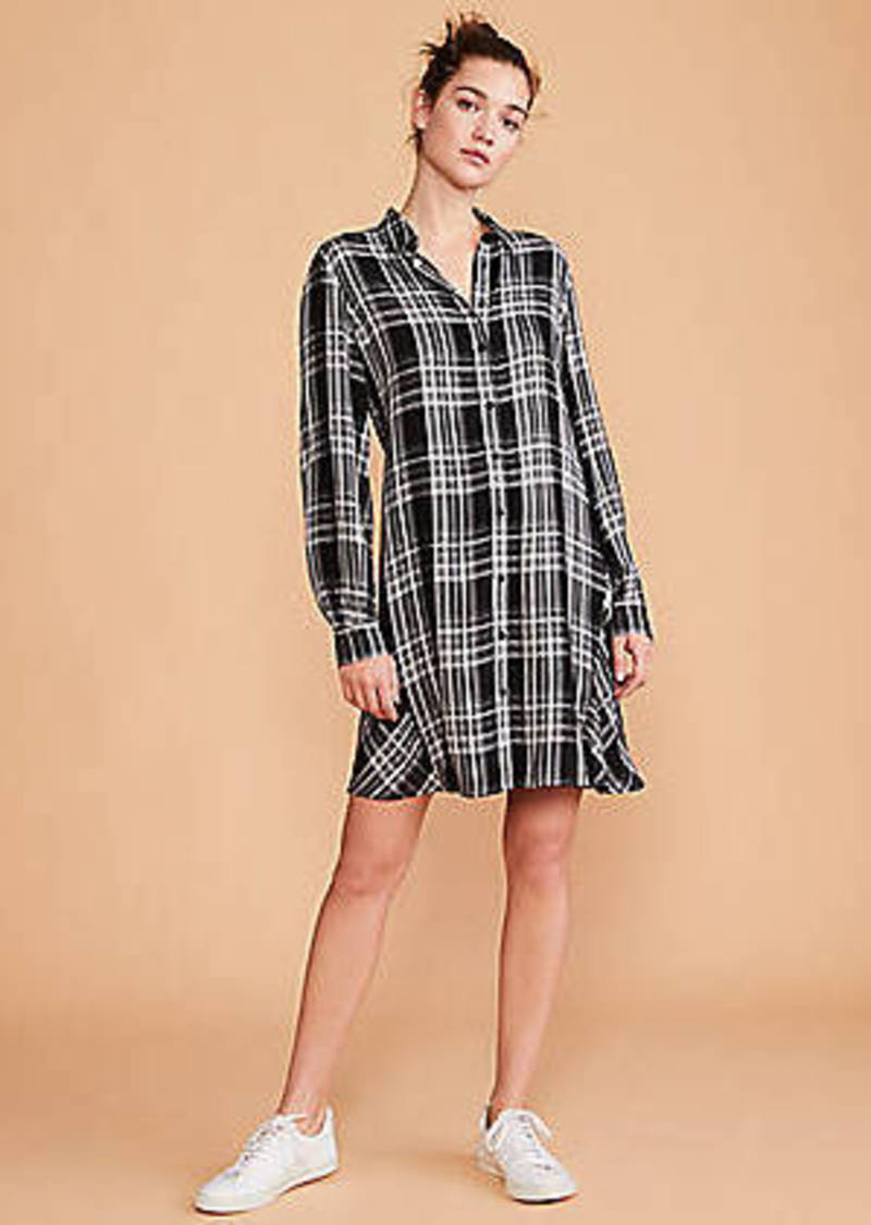 LOFT Lou & Grey Plaid Shirtdress