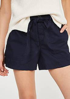 LOFT Poplin Tie Waist Shorts