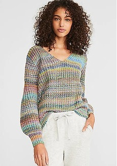 LOFT Lou & Grey Rainbow Stripe Sweater