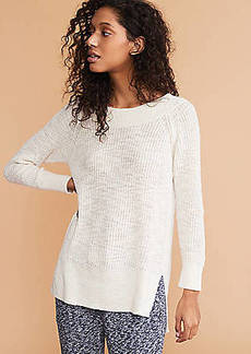 LOFT Lou & Grey Ribtrim Tunic Sweater