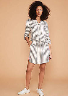 LOFT Lou & Grey Shadow Stripe Shirtdress
