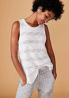 LOFT Lou & Grey Shadowstripe Sleeveless Sweater