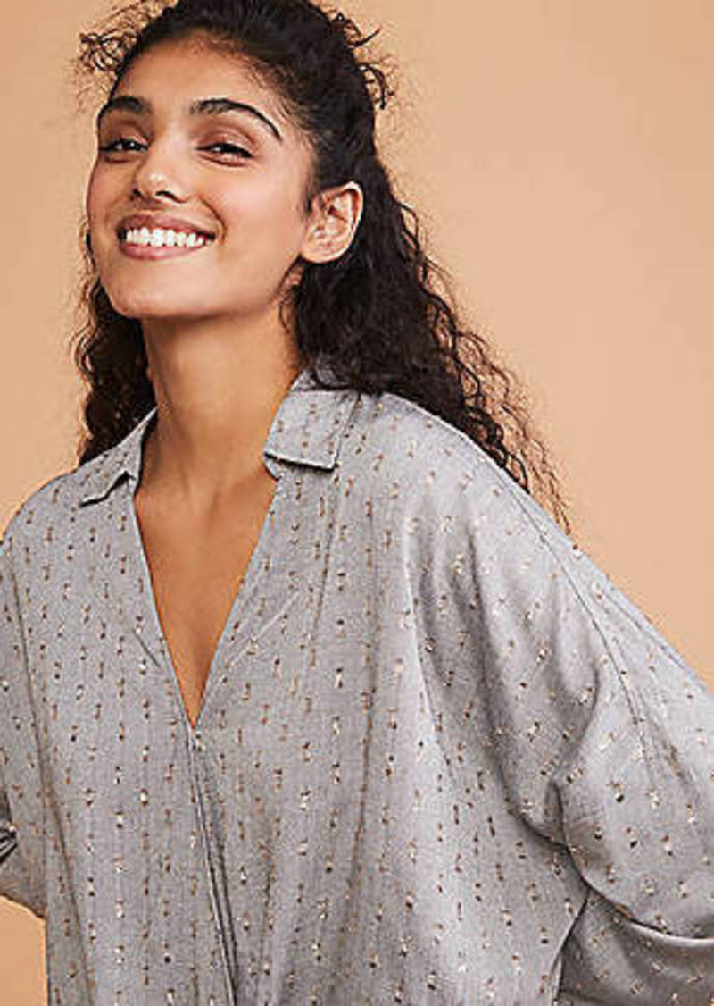LOFT Lou & Grey Shimmer Clip Cozy Wrap Shirt