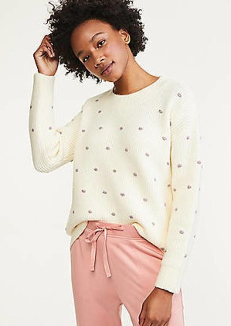 LOFT Lou & Grey Shimmer Dot Tunic Sweater