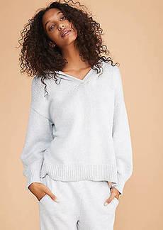 LOFT Lou & Grey Shimmer Hoodie Sweater