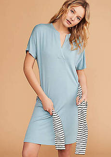 LOFT Lou & Grey Signaturesoft Split Neck Dress
