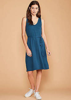 LOFT Lou & Grey Signaturesoft Tie Waist Dress
