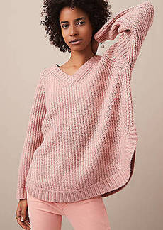 LOFT Lou & Grey Slouchy Shirttail Tunic Sweater