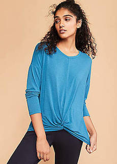 LOFT Lou & Grey Softened Jersey Twist Top