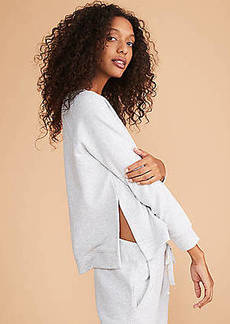 LOFT Lou & Grey Sparkle Slit Tunic Sweatshirt