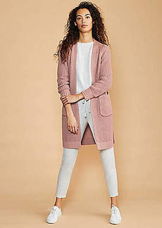 LOFT Lou & Grey Stitchy Pocket Open Cardigan
