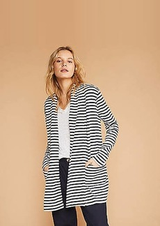 LOFT Lou & Grey Striped Conscious Cotton Pocket Open Cardigan