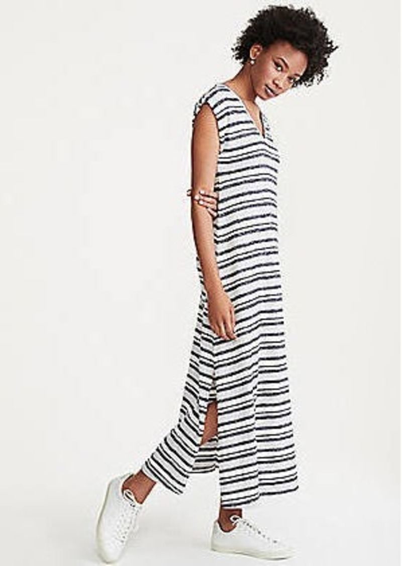LOFT Lou & Grey Striped Maxi Tee Dress