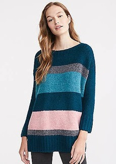LOFT Lou & Grey Striped Plushfuzz Poncho Sweater