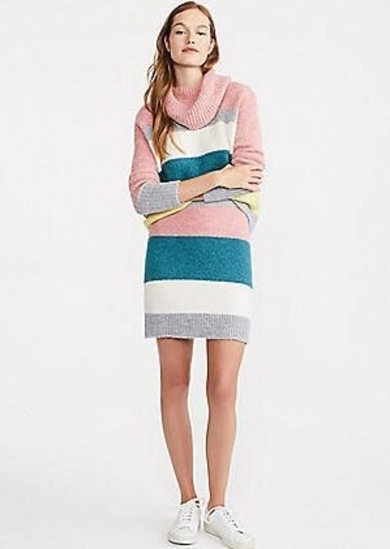LOFT Lou & Grey Striped Plushfuzz Sweater Skirt