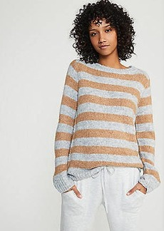 LOFT Lou & Grey Striped Plushfuzz Tunic Sweater