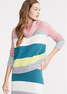 LOFT Lou & Grey Striped Plushfuzz Turtleneck Sweater