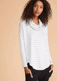 LOFT Lou & Grey Striped Signaturesoft Cowl Shirttail Top