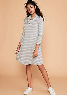 LOFT Lou & Grey Striped Signature Softblend Lite Swing Dress