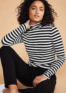 LOFT Lou & Grey Striped Softened Jersey Turtleneck