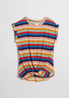 Lou & Grey Striped Softserve Linen Twist Tee