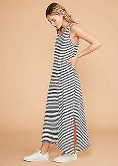 LOFT Lou & Grey Striped Tank Maxi Dress