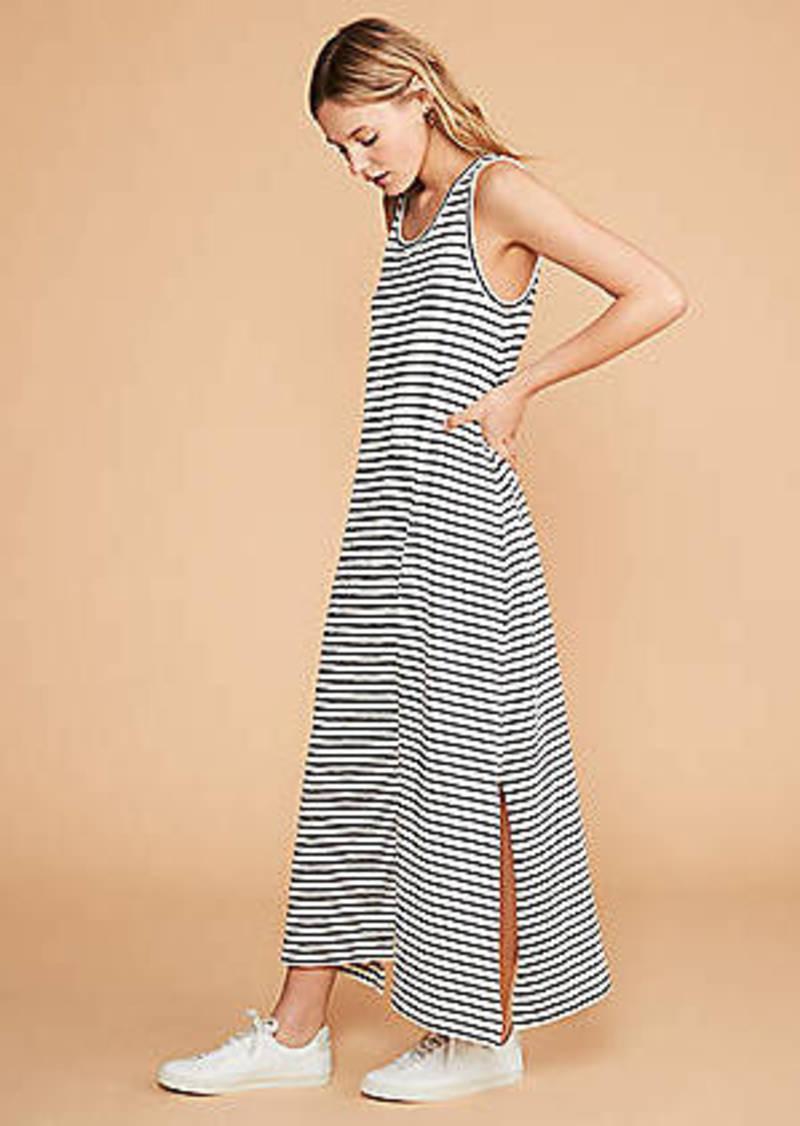 LOFT Lou & Grey Striped Tank Maxi Dress