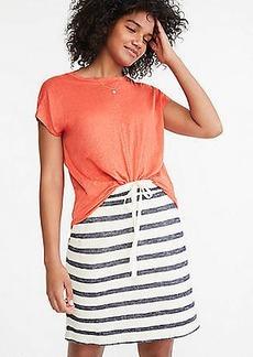 LOFT Lou & Grey Striped Terry Drawstring Pocket Skirt